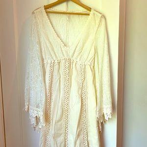 Free people cream colored lace dress